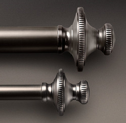 ANTIQUE SILVER KNURLED