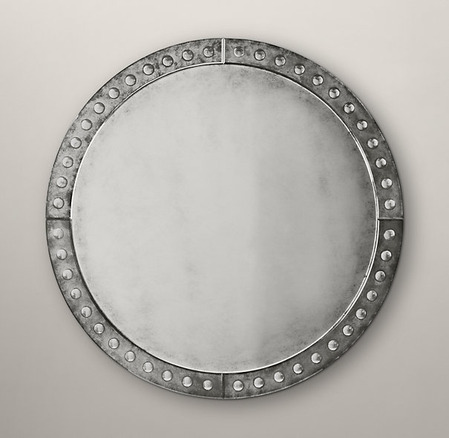 Palazzo Antiqued-Glass Round Mirrors_1