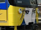 2009.5.1-デザイン電車となった3011F-前面部の飾り部もラッピングされている