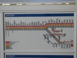 2007.8.22-西武拝島駅新デザイン(試作品)の総合案内板(停車駅部)