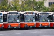 2017.4.8-ももクロ臨時バス-車両待機所,車両の並び