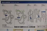 2019.9.30-運賃改定前本川越駅他社線連絡運賃表