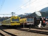 2009.11.23-秩鉄ありがとうフェスタ-門デフを装着したC58が到着