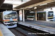 2019.10.28-カワ72番51番の離合(川越中線下本)