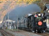 2009.11.23-波久礼を通過するパレオエクスプレス(門デフ装着のC58)