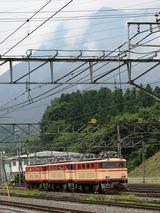 2008.9.1-3重単のまま横瀬基地で留置するE31-武甲山を背に