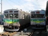 2009.11.23-秩鉄ありがとうフェスタ-三峰口駅で並ぶ7000系