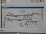 2007.8.22-西武拝島駅新デザイン(試作品)の総合案内板(全線案内)