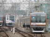 2009.6.8-和光市に入線する副都心線開業1周年HM付の10101F