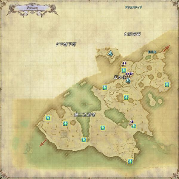 ヤンサ風脈マップ