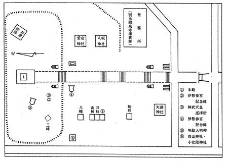 古里・兵執神社境内図