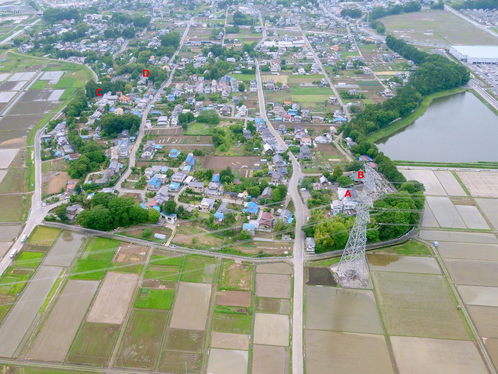 空から見た東松山市 136 正代 2011年6月 : GO! GO! 嵐山 3