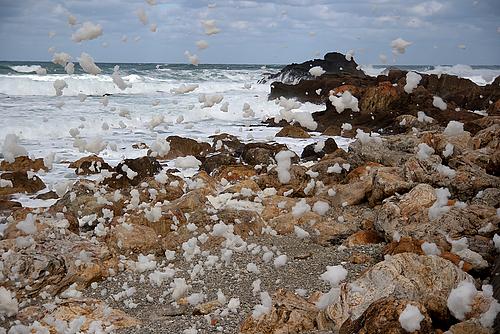波の花(曽々木海岸)