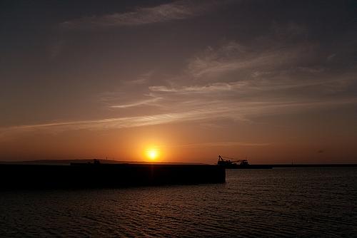 伊良部島に沈む夕陽