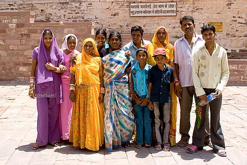 ラジャスタンの人々(メヘランガル城)