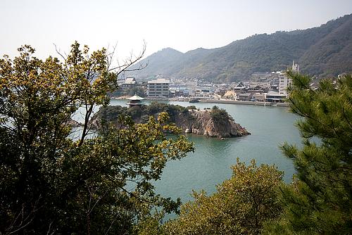 仙酔島より鞆の浦
