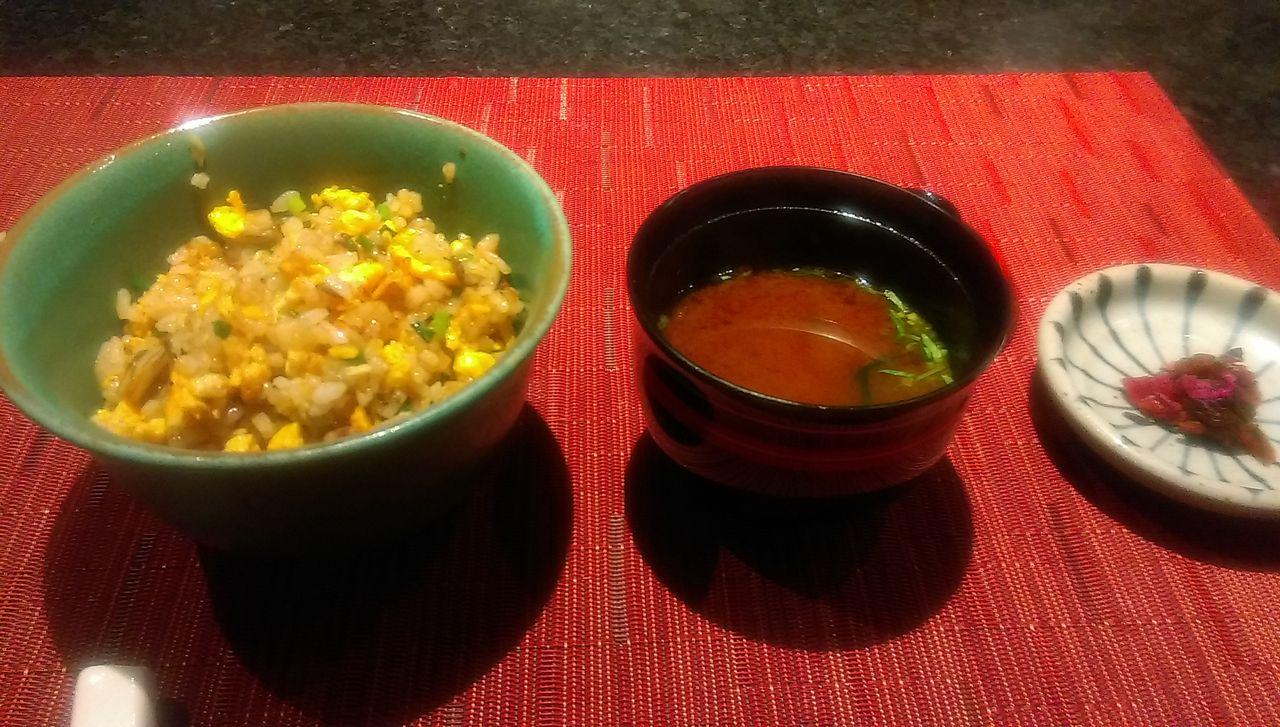 ガーリックライス&味噌汁