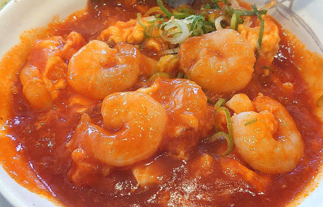 海老のチリソースW定食