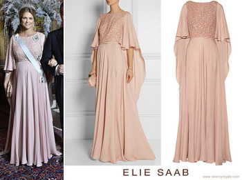 Princess-Madeleine-wore-ELIE-SAAB-Embellished-belted-silk-gown