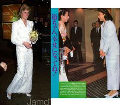 ダイアナ妃 白いドレス