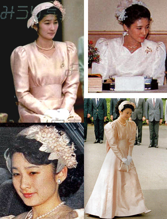 こちらは雅子さんのヘッドドレスと紀子さまとの比較。