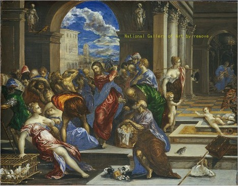 Christ Cleansing the Temple by El Greco.