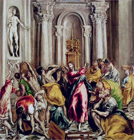 Jesus Driving the Merchants from the Temple  El Greco