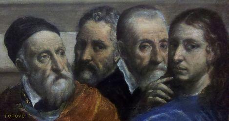 Titian,Michelangelo,Giulio Clovio,Rafael by El Greco