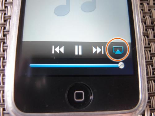 iPod touch 次へボタンの隣