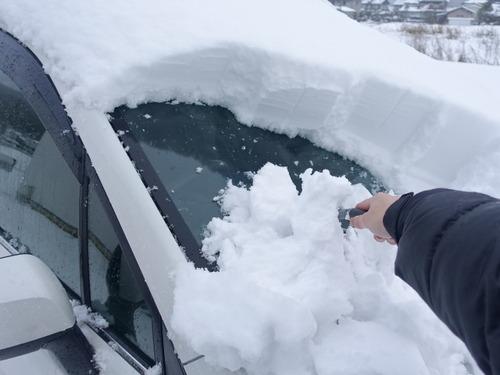 車 雪かき(スノーブラシ)