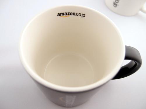 Amazonオリジナル マグカップ 中とロゴ