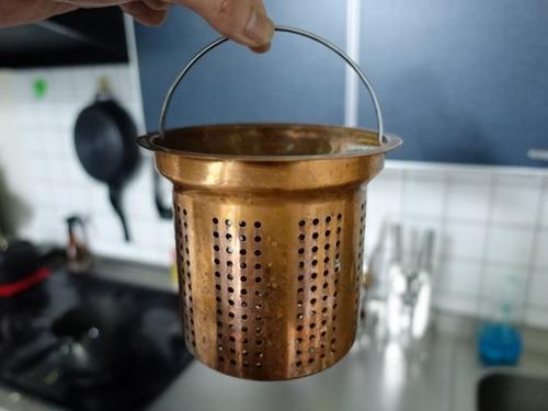 銅製水切りカゴ(台所排水口用)