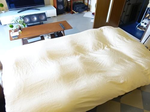 毛布型の掛け布団カバー