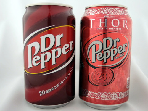 Dr.Pepper 日本製とアメリカ製