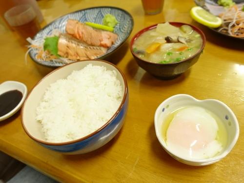 炙り鮭定食
