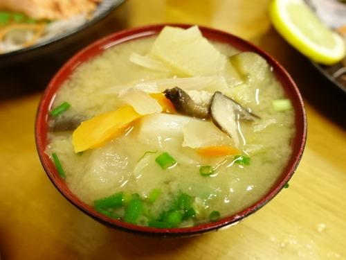 炙り鮭定食 味噌汁