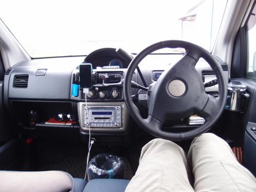わしの軽自動車内