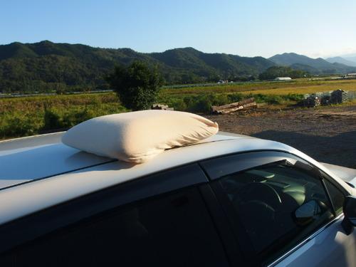 車の上の枕