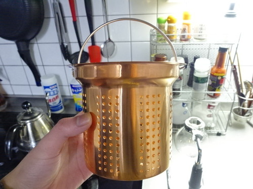 水切りカゴ 銅製