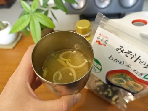 みそ汁 in カップ
