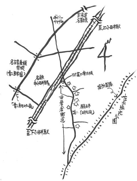 岩倉街道MAP