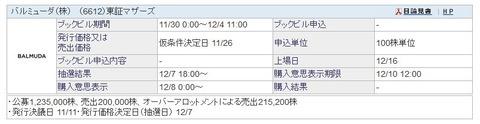 【12月IPO】バルミューダ(6612)抽選申込始まります!