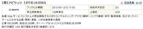 【2月IPO結果発表】アピリッツ(4174)抽選結果発表!