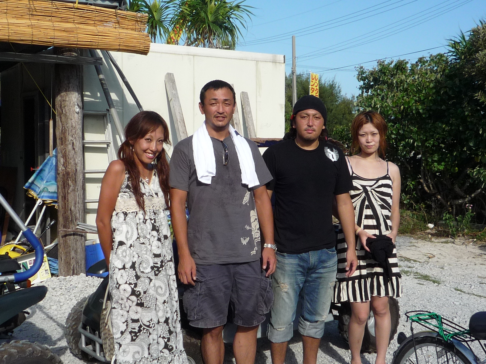 自転車の 尼崎 自転車 レンタル : 女性陣は免許が無くて自転車に ...