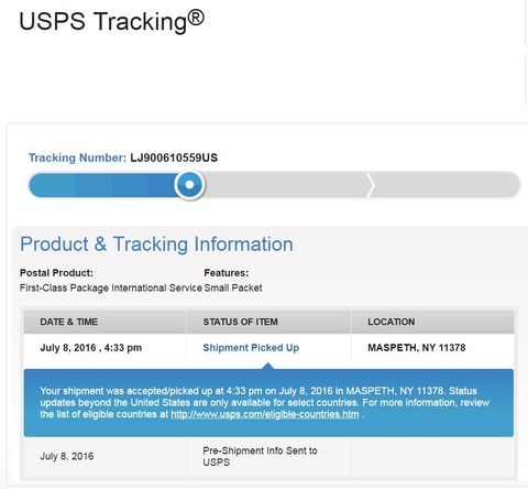 20160712 UPS tracking