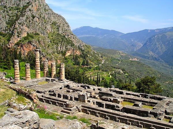 ギリシャのデルポイの遺跡