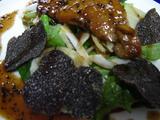 トリュフとフォアグラソテーとジャガイモのサラダ