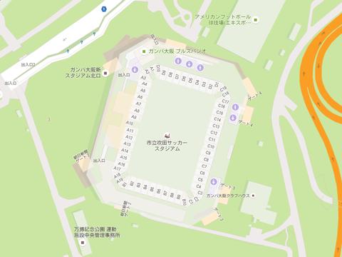 吹田スタジアム地図