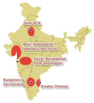 India industrial map