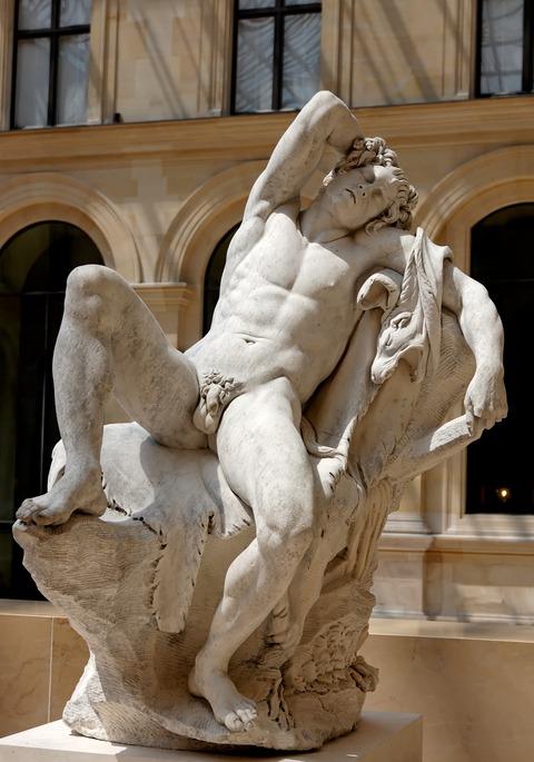 Sleeping_satyr_Bouchardon_Louvre_MR1921